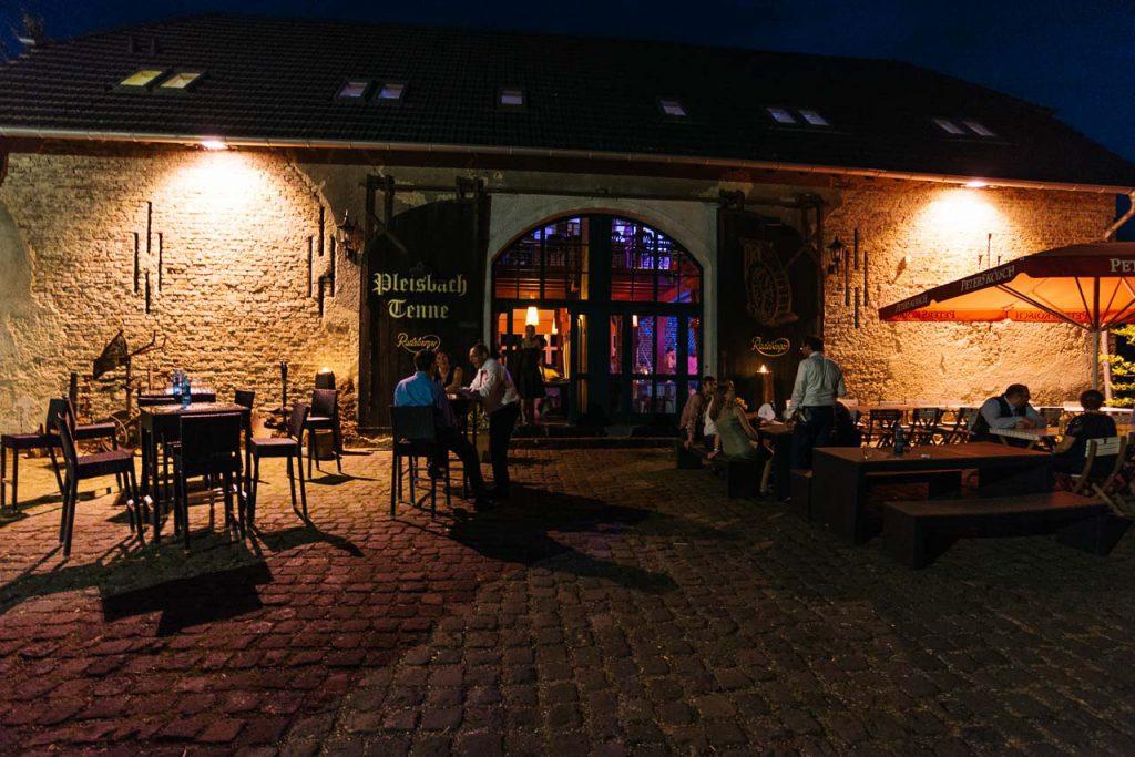 Die Neiderpleiser Mühle bei Nacht.