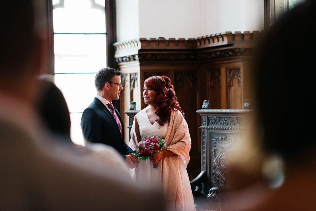 Das Brautpaar endlich vereint.