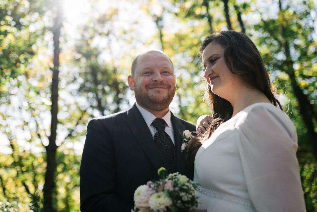 Portrait des Brautpaars.