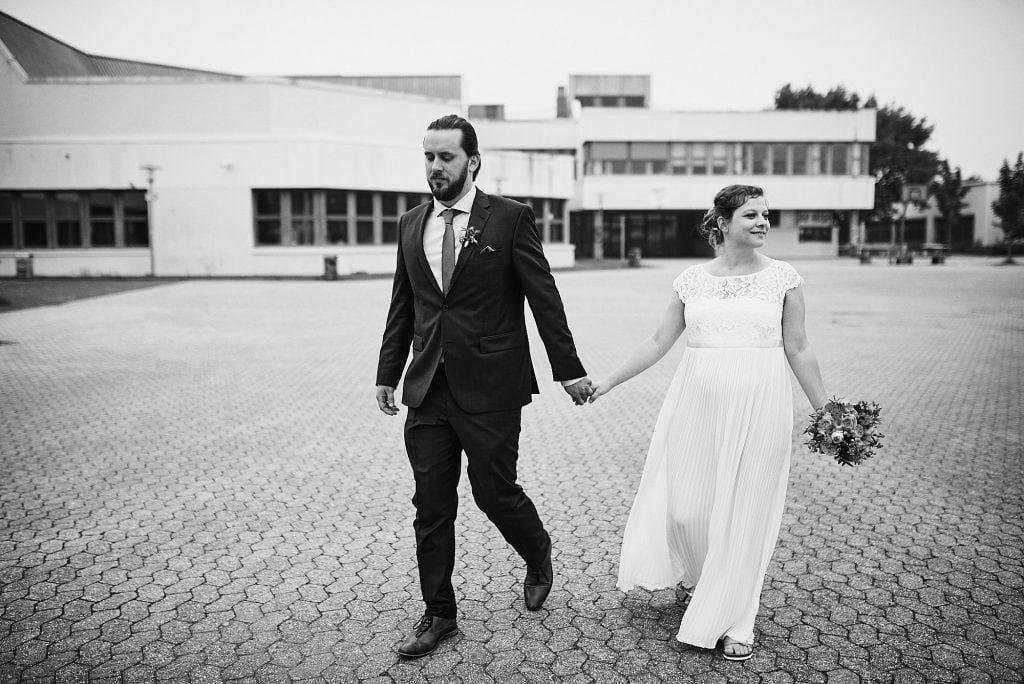 Unterwegs beim Brautpaarshooting.