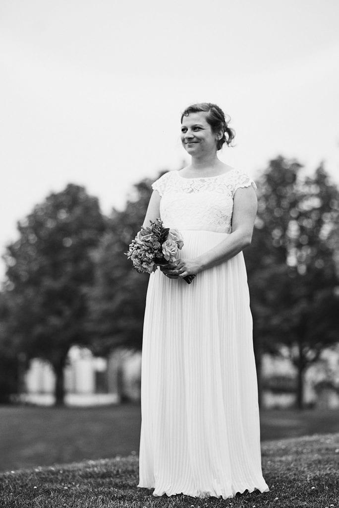 Die glückliche Braut.