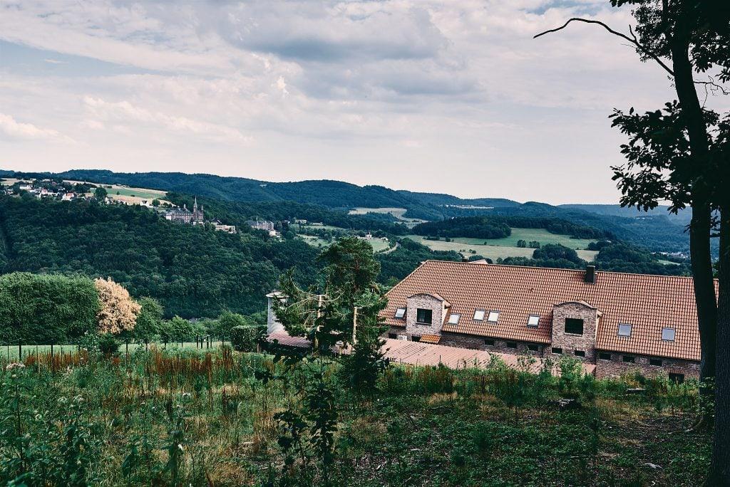 Landschaftsaufnahme vom Westerwald und der Hochzeitslocation.