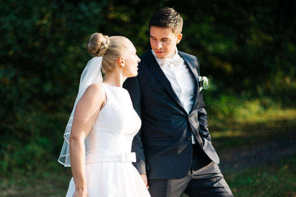 Braut und Bräutigam.