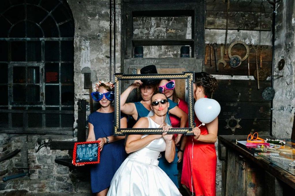 Photo Booth Bild der Braut.