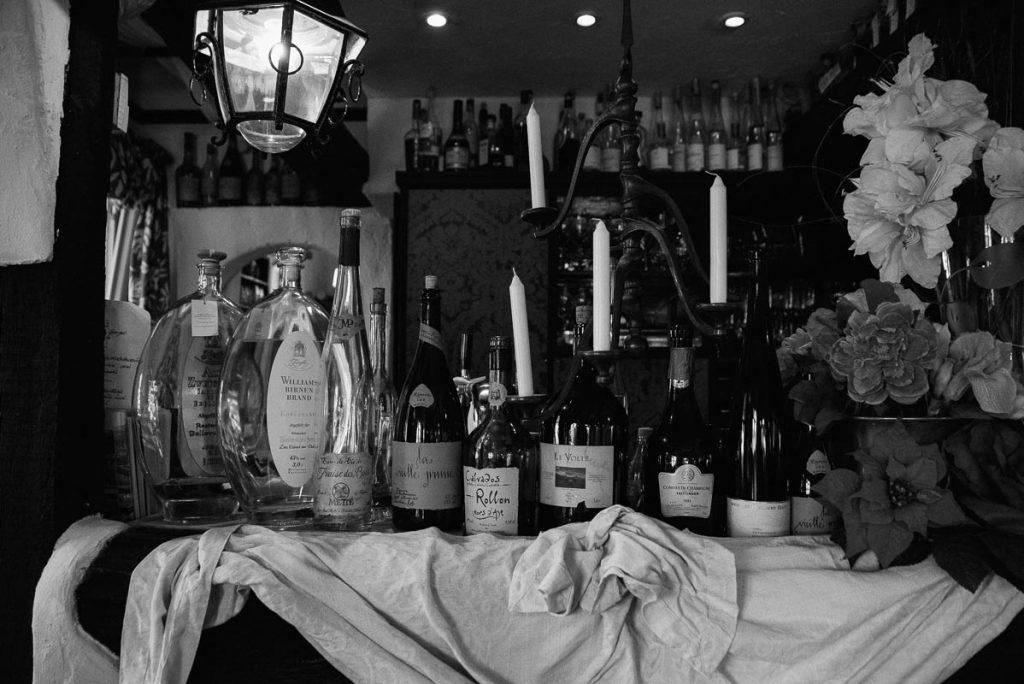 Detailaufnahme vom Restaurant Bellevuechen in Remagen.