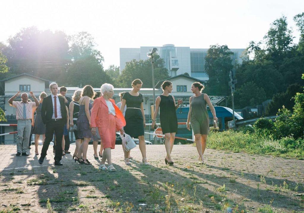 Gruppenbild am Rhein.