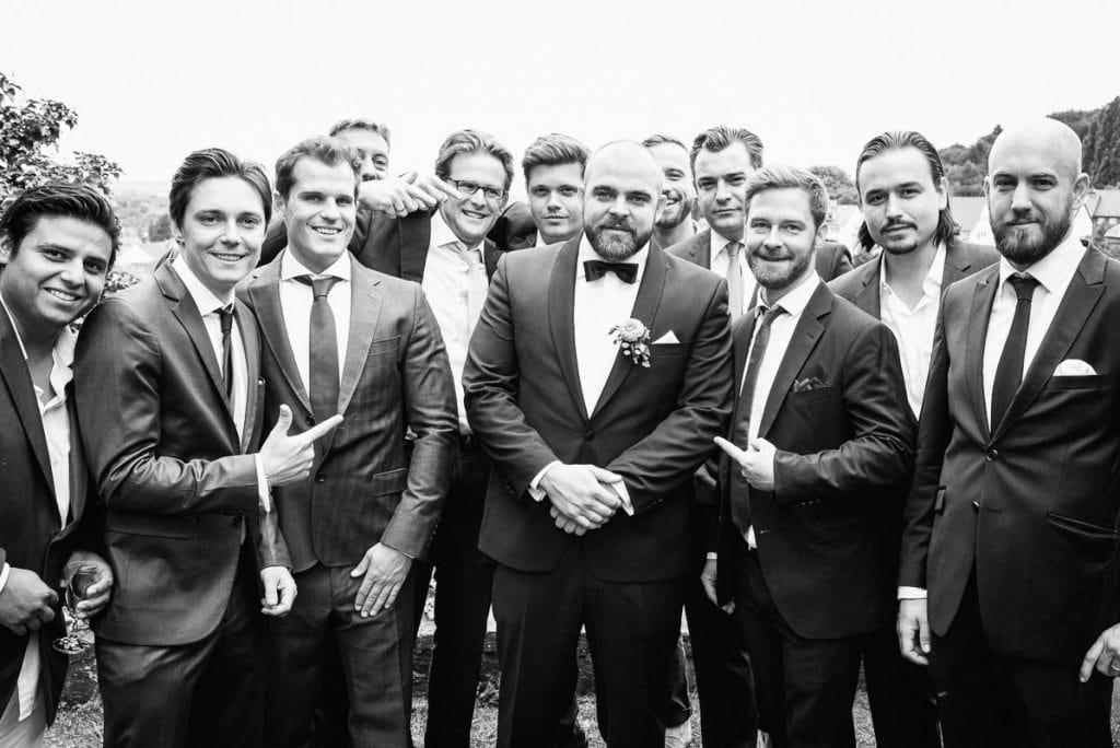 Gruppenbild mit Männern.