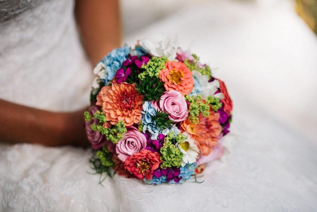 Der Brautstrauß.