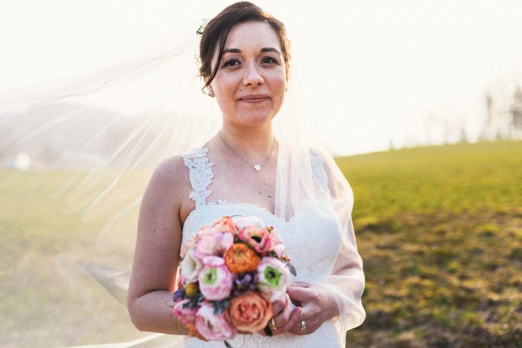 Portrait der Braut.