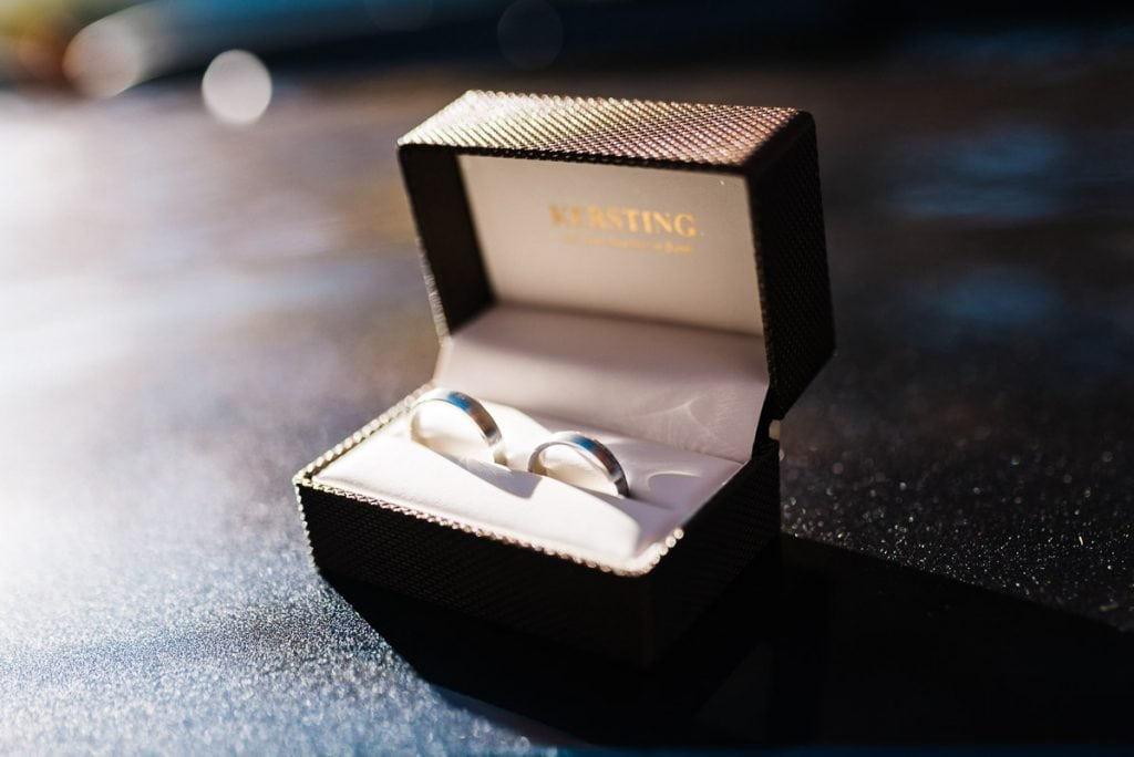 Die Ringe des Brautpaars.