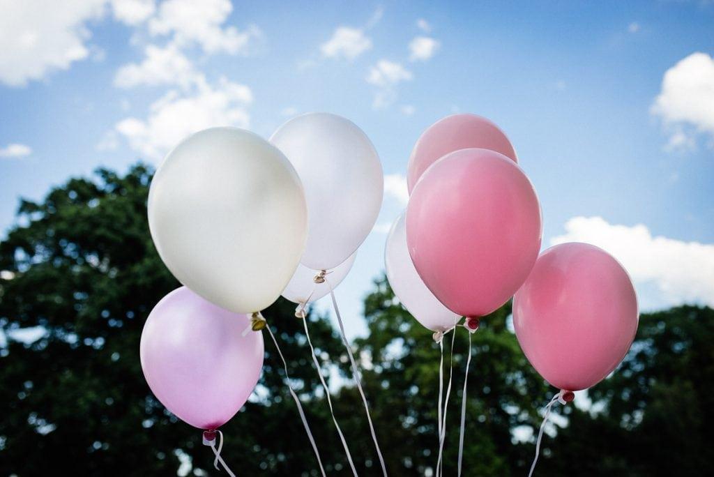 Hochzeitsballons.
